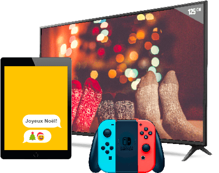 iPad, LG TV et Nintendo Switch