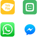 iconen Yelo Play - WhatsApp - Play Sports - Facebook Messenger