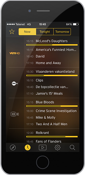 Telenet TV-app-app screen
