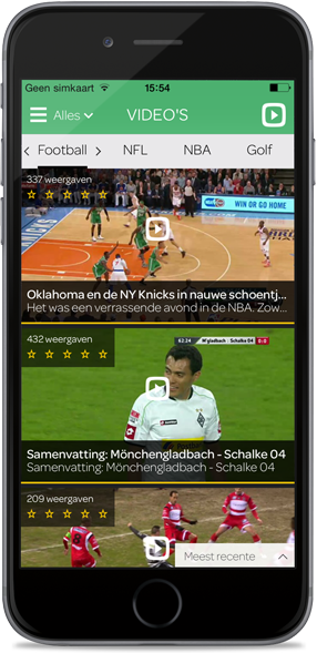 Play Sports-app screen